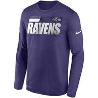 New Baltimore Ravens Nike Sideline Impact Legend Performance Dri-FIT Long Shirt