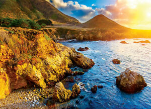 Jigsaw puzzle Landscape Sunset on the Pacific Coast 1000 piece NEW