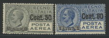 Italy C10 & C11 w/value overprints - mnh & mh air mail stamps