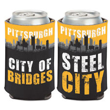 Pittsburgh City of Bridges Steel City Can Cooler 12 oz. Koozie
