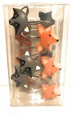 Mainstays Kids Woodland Creatures Resin Shower Curtain Hooks, Set of 12