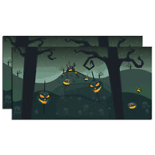 Dept 56 Halloween 2012 Halloween Backdrop Set/2 #4025413 NIB FREE SHIP 48 STATES