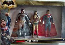 Batman Vs. Superman WonderWoman Bendable Action Figure Set dawn of justice NEW