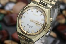 Vintage SEIKO Bell-Matic Alarm 17 Jewel Automatic 4006-6050 Gold Filled Watch