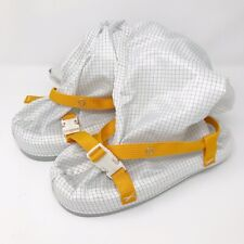 White Knight Slip Resistant Cleanroom Calf Elastic Protective Boot Size M