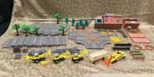 HUGE LOT Vintage Tonka Kentoys Construction Playset City Roads Trees Signs