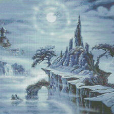 14ct Counted Cross Stitch Kits Moonlit Ocean Scenery GIFTS w200 x h213mm NEW