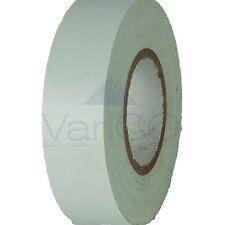 ELECTRICAL PVC INSULATION INSULATING TAPE FLAME RETARDANT 20M WHITE X 2 ROLLS