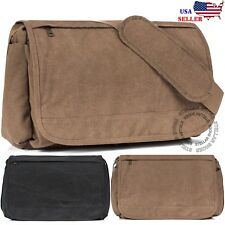 NEW Men's Vintage Canvas Schoolbag Satchel Shoulder Messenger Bag Laptop Bags
