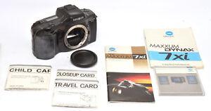 Minolta Maxxum 7xi SLR Film Camera & 3 Expansion Cards For Minolta AF Mount!