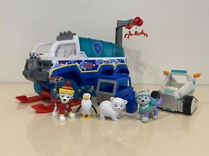 Paw Patrol Snow Rescue Arctic Terrain Vehicle Complete With Everest Snowmobile