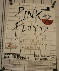 RARE PINK FLOYD THE WALL 1981 CONCERT POSTER DORTMUND GERMANY 23 X 33