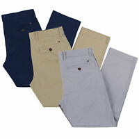 Tommy Hilfiger Mens Chinos Pants Tailored Fit Flat Front Stretch Flag Logo New