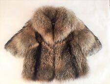 VESTE RENARD ELEVAGE FOX JACKET 36/38 S M MARRON GRAND COL EPAISEE