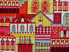 16,73€/m² => 25cmx110cm: VILLAGE - Häuser - Alexander Henry Patchworkstoff
