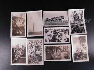 1934 (9) Original Photos Doug Davis Bendix Trophy Cleveland Air Race Crash 839
