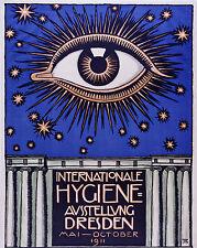 Vintage Medical Eye Hygiene Poster Dresden German 8x10 Real Canvas Art Print New
