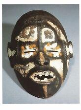 Postcard Africa Nigeria Idoma or Akweya People Mask Brooklyn Art Museum MINT