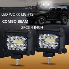 New listing 2pcs 4inch 200W 12V Led Work Light Bar Pods Flush Mount Combo Driving Odus