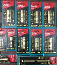 Makita Impact Gold Bit Set Lot of 11 Packs