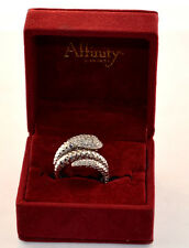 AFFINITY DIAMOND STERLING SILVER SNAKE RING SIZE 7