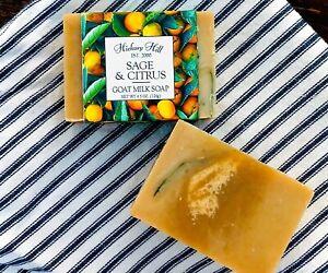 Sage & Citrus / Homemade Goat Milk Soap / 2 Bars