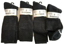 Lot Of 4 Pairs Smartwool Nailhead Grid Crew Socks Men's Large NWT Charcoal