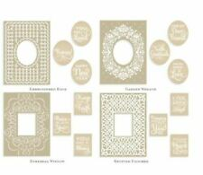 Cricut Cuttlebug Anna Griffin Mix and Match EMBROIDERED Embossing Folders  RARE