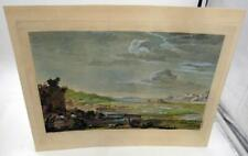 1850s REPRINT OF 1730S ETCHING THE RUINS OF BALBEC HAND COLORED BY J. P. LE BAS