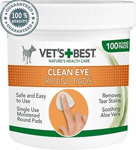 Vet'S Eye Cleaning Pads For Dogs Tear Stain, Dirt Remover Pack Of 100