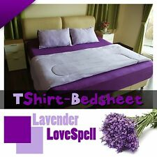 100% cotton jersey knitted bed sheet king size (6 ft) super soft & comfortable