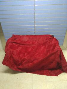 Luxury Red Astrakhan Skin Fur Throw Real Lamb Fur Blanket / Bedspread