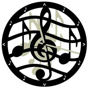 EnjoyYourTime Music Musical Theme Wall Clock 28cm Black (e9515blk)