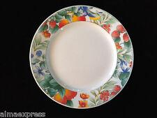 "Lynns Fine China WATERBERRY Blue Bird & Fruit Pattern 8"" LUNCHEON / SALAD PLATE"