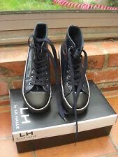 boots bottines à lacets La Halle 36 tige haute bleu nuit