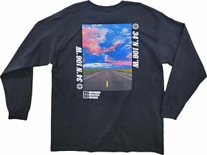 New Men's National Geographic New Mexico Long Sleeve Vintage Retro T-Shirt Tee