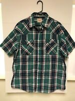 Men's Western Plains Trading Co. short sleeve pearl snap western shirt size XL