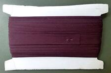 25mm BIAS BINDING - DARK BROWN - 50 metres on card - poly/cotton