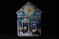 Donald Duck's Clock Shop Disney Mickey's Villafe 6th Bradford Exchange Plate