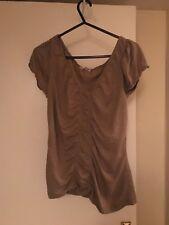 George At Asda Women's Ruche Brown Top T Shirt UK 8 Women's Clothing