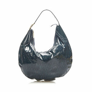Pre-Loved Gucci Green Horsebit Glam Patent Leather Hobo Bag Italy