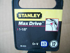 NEW STANLEY 1/2 in Drive  1-1/8 Inch  MAX DRIVE 12 POINT SOCKET