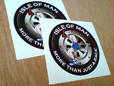 ISLE OF MAN More Than Just A Race Fans of TT Motorcycle Stickers 2 off 100mm