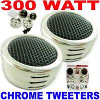 300  Watt Chrome Super Power Dome Tweeter Car Tweeters 25 Pairs