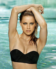 AMBER HEARD 8x10 PHOTO PICTURE PIC HOT SEXY ALL WET IN BIKINI 4