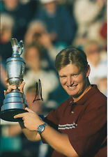 Ernie ELS SIGNED AUTOGRAPH 12x8 Photo AFTAL COA 2002 Open Winner Muirfield GOLF