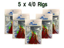 5 Red Snapper Rigs Flasher Fishing Rig - Paternoster 40lb 4/0 Hooks Flathead