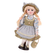 30cm Victorian Porcelain Doll with Green Princess Clothes Home Display Decor