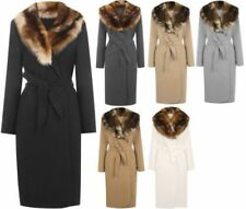 Regular Size 100% Wool Solid Coats & Jackets for Women