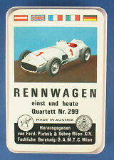 Quartett - Rennwagen - Piatnik - Nr. 299 - von 1966 -- Auto Kartenspiel 14